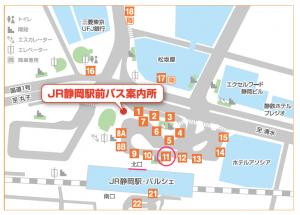 静岡駅バス構内マップ