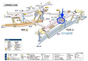 メトロ上野駅定期券売り場