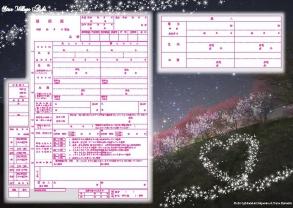 花桃と星空2