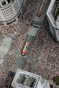 ロンドン五輪凱旋パレード銀座