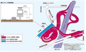 横浜港北JCT概略図