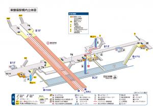 東京メトロ日比谷線東銀座駅構内図