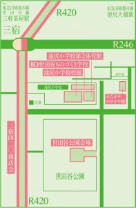 世田谷パン祭り2016マップ