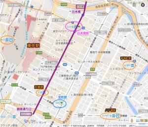 銀座通り口〜日本橋リオ凱旋パレード
